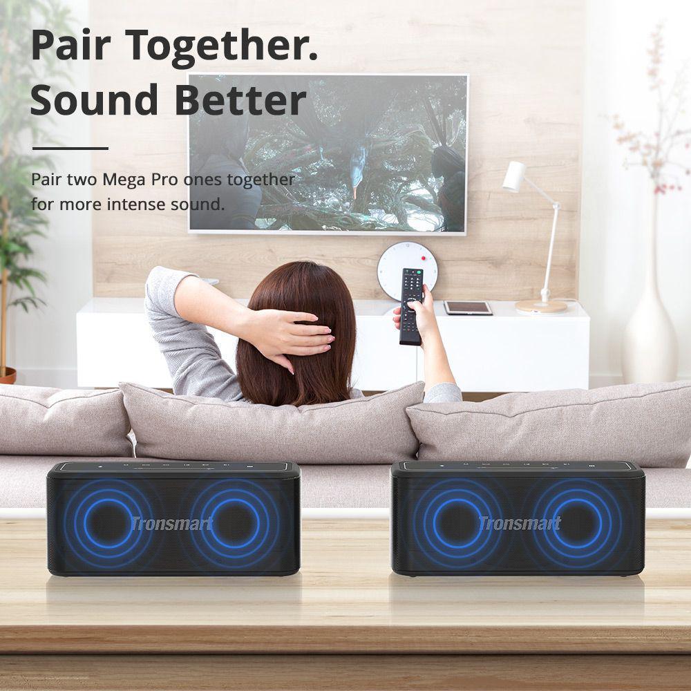 Tronsmart Mega Pro 60w Enhanced Bass Tws Nfc Ipx5 Portable Speaker (2)