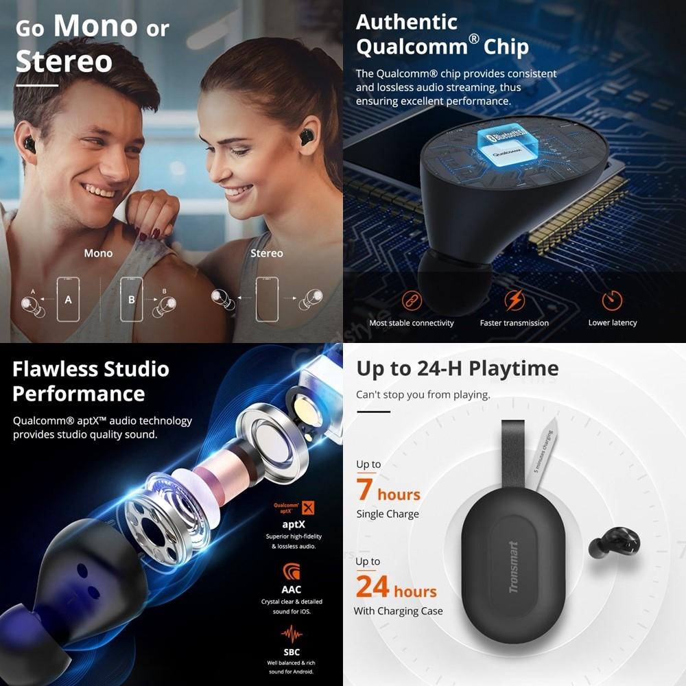 Tronsmart Spunky Beat True Wireless Bluetooth Earbuds (1)