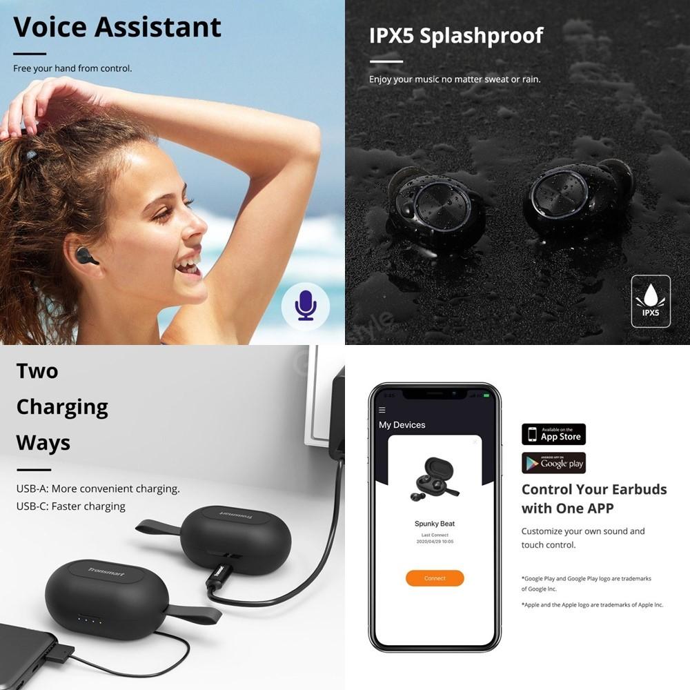 Tronsmart Spunky Beat True Wireless Bluetooth Earbuds (2)