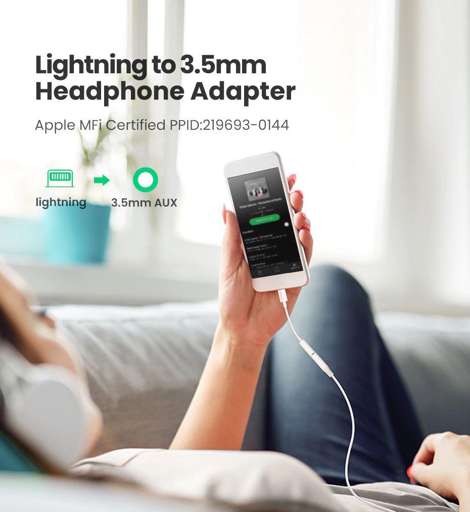 Ugreen Lightning To 3 5mm Jack Headphones Adapter Apple Mfi Certified (4)