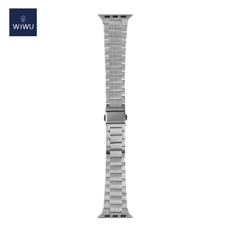 Wiwu Metal Stainless Steel Watch Band Strap For Apple Watch Silver (3)