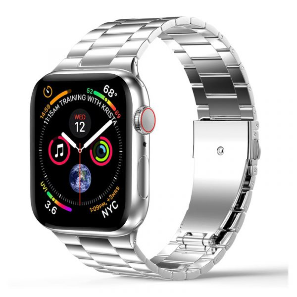 Wiwu Metal Stainless Steel Watch Band Strap For Apple Watch Silver (5)