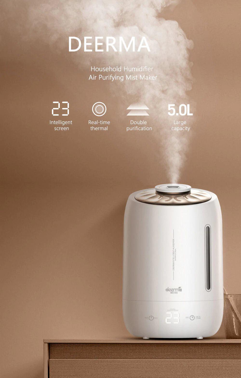 Xiaomi Deerma Dem F600 Household Humidifier Purifying Mist Maker 5l (2)