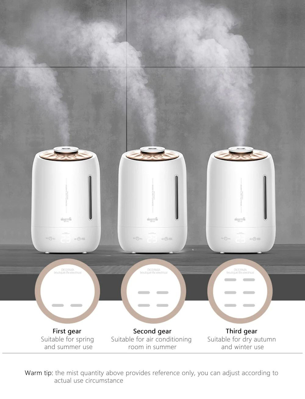 Xiaomi Deerma Dem F600 Household Humidifier Purifying Mist Maker 5l (5)