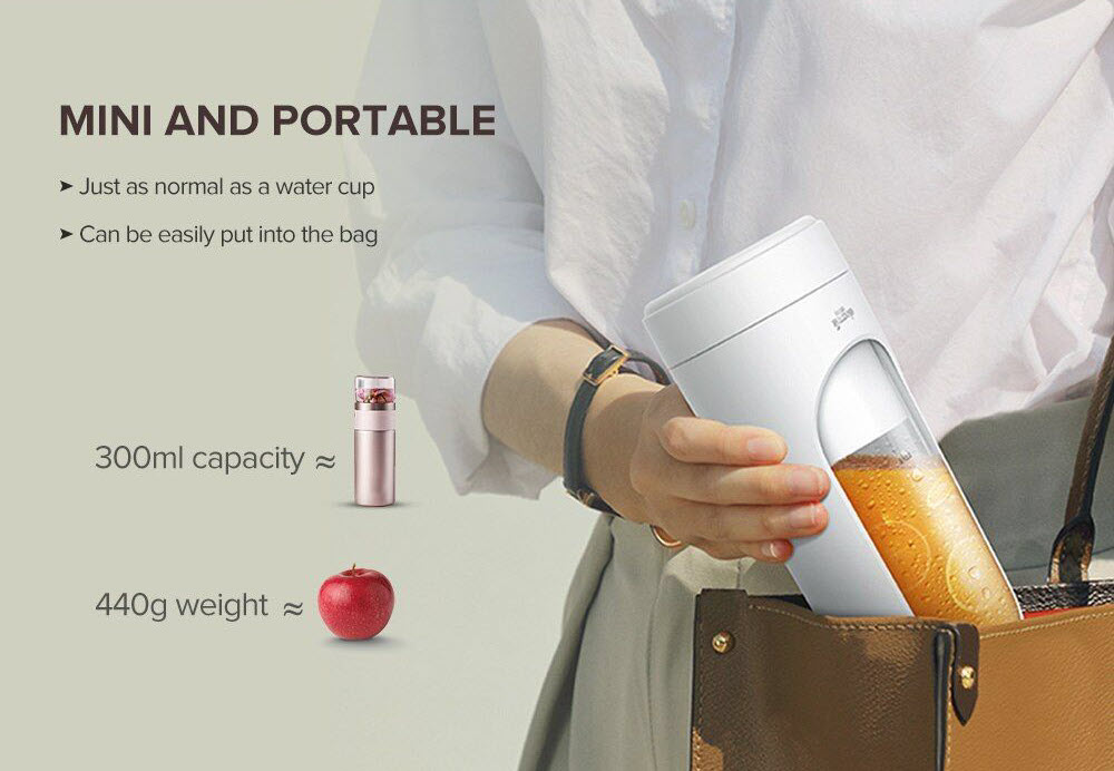 Xiaomi Deerma Dem Nu30 300ml Portable Electric Juicer Blender (5)