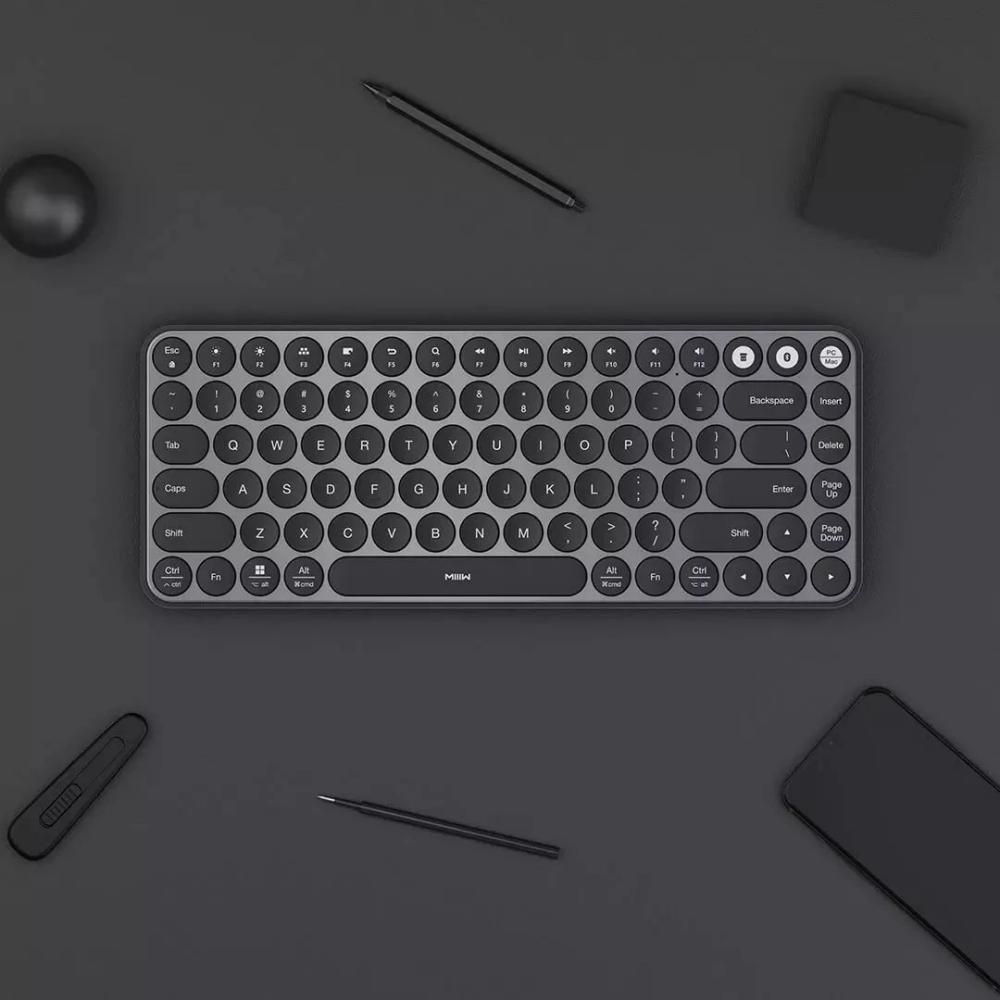 Xiaomi Miiiw Mini Bluetooth Dual Mode Keyboard 85 Keys Black (3)
