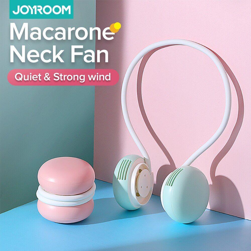 Joyroom Mini Neck Fan Portable Bladeless Fan Rechargeable Leafless Hanging Fans Air Cooler Cooling Wearable Neckband