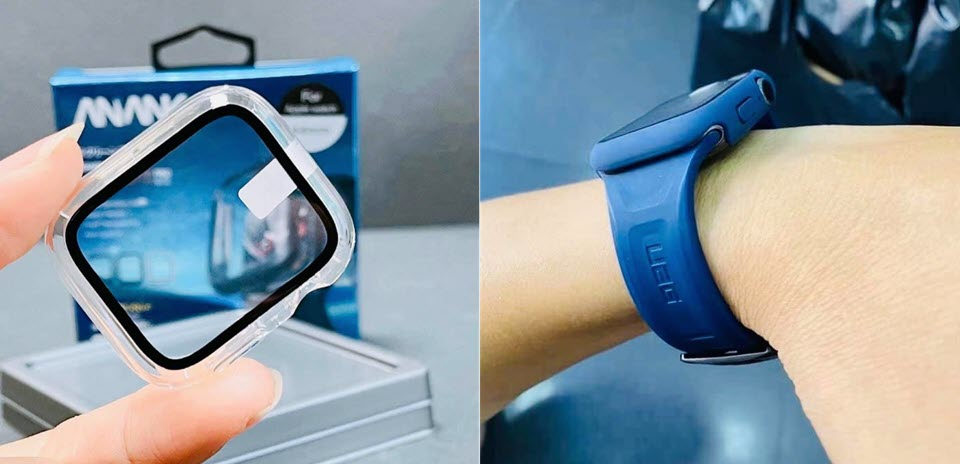 Anank Glass With Case For Apple Watch 44mm (1)