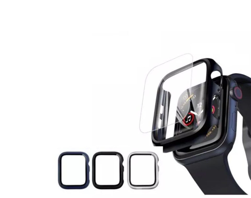 Anank Glass with Case For Apple Watch 40MM - Black