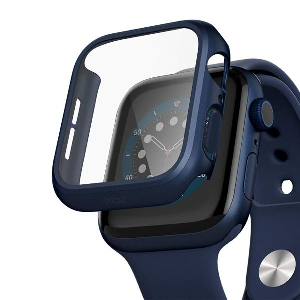 Anank Glass With Case For Apple Watch 44mm Blue