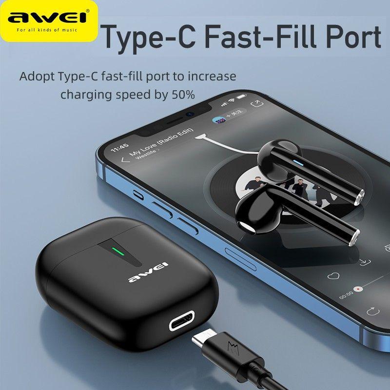 Awei T21 Tws Wireless Bluetooth 5 0 Mini Earbuds (1)