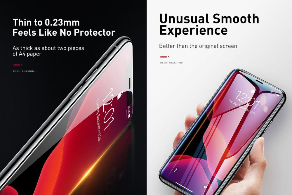 Baseus 0 23mm Curved Screen Tempered Glass Screen Protector For Iphone 11 Pro Iphone Xs Ip (3)
