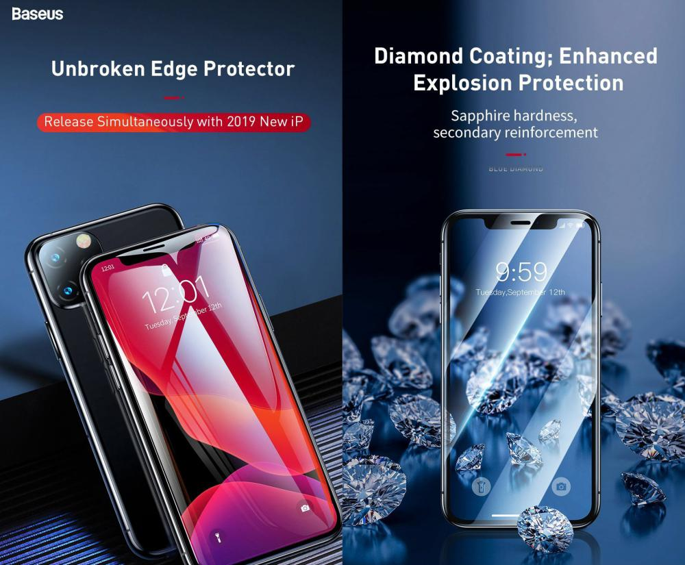 Baseus 0 23mm Curved Screen Tempered Glass Screen Protector For Iphone 11 Pro Iphone Xs Ip (5)