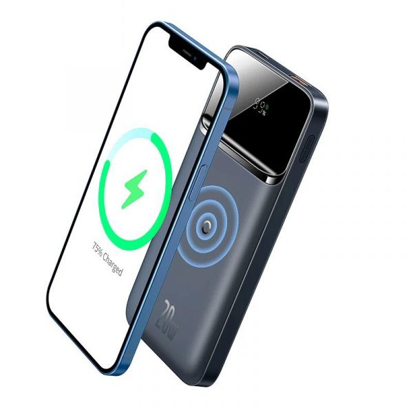 Baseus 10000mah Portable 20w Magnetic Wireless Charger Power Bank (1)