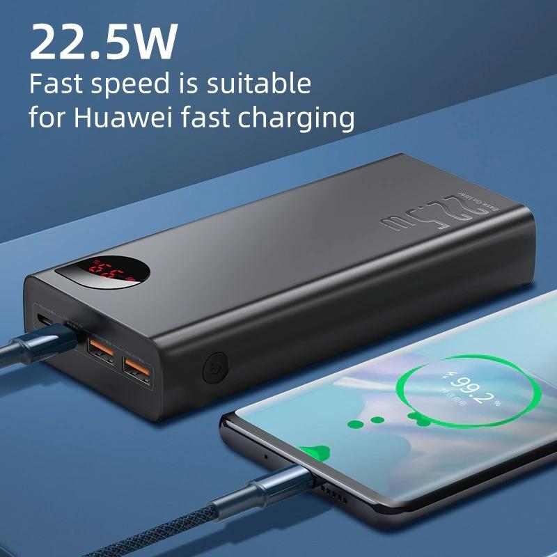 Baseus 22 5w Adaman 30000mah Metal Digital Display Power Bank Quick Charge (2)
