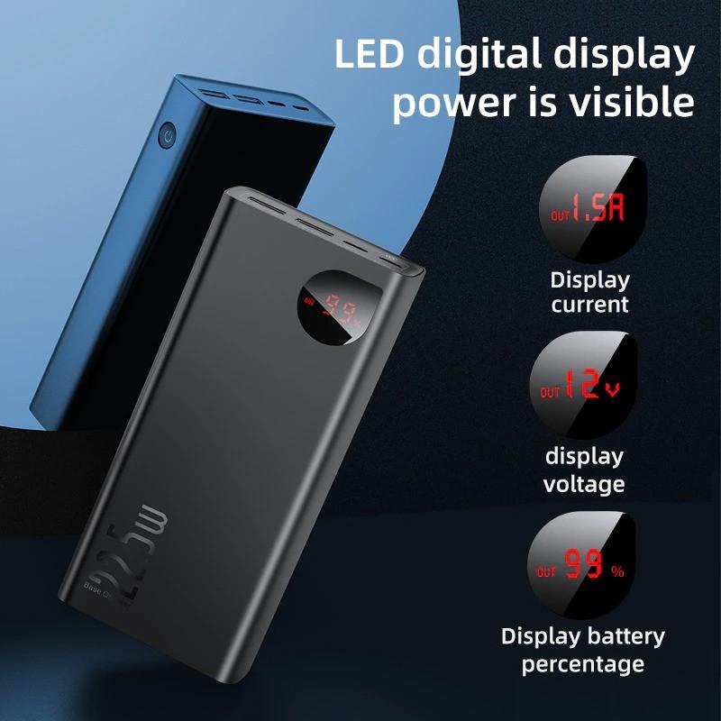 Baseus 22 5w Adaman 30000mah Metal Digital Display Power Bank Quick Charge (6)