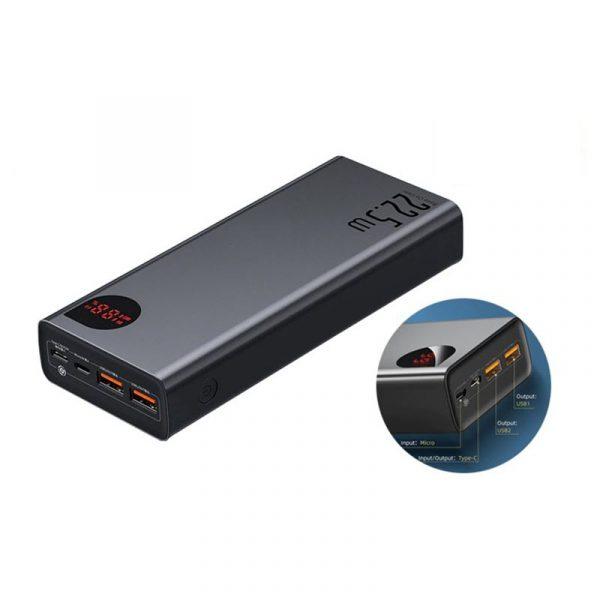 Baseus 22 5w Adaman 30000mah Metal Digital Display Power Bank Quick Charge (7)