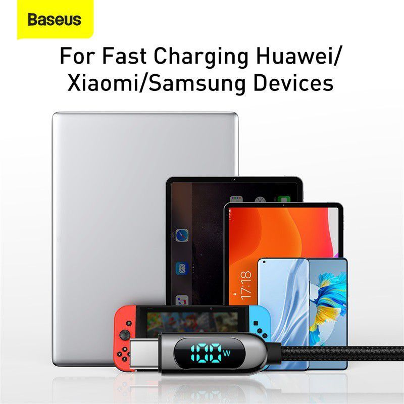 Baseus Display Fast Charging Data Cable Type C To Type C 100w (2)