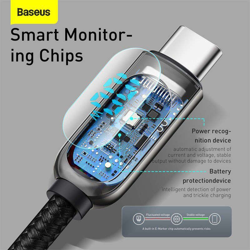 Baseus Display Fast Charging Data Cable Type C To Type C 100w (4)