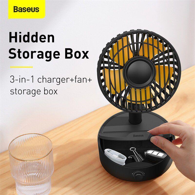 Baseus Hermit Desktop Wireless Charger With Oscillating Fan (1)