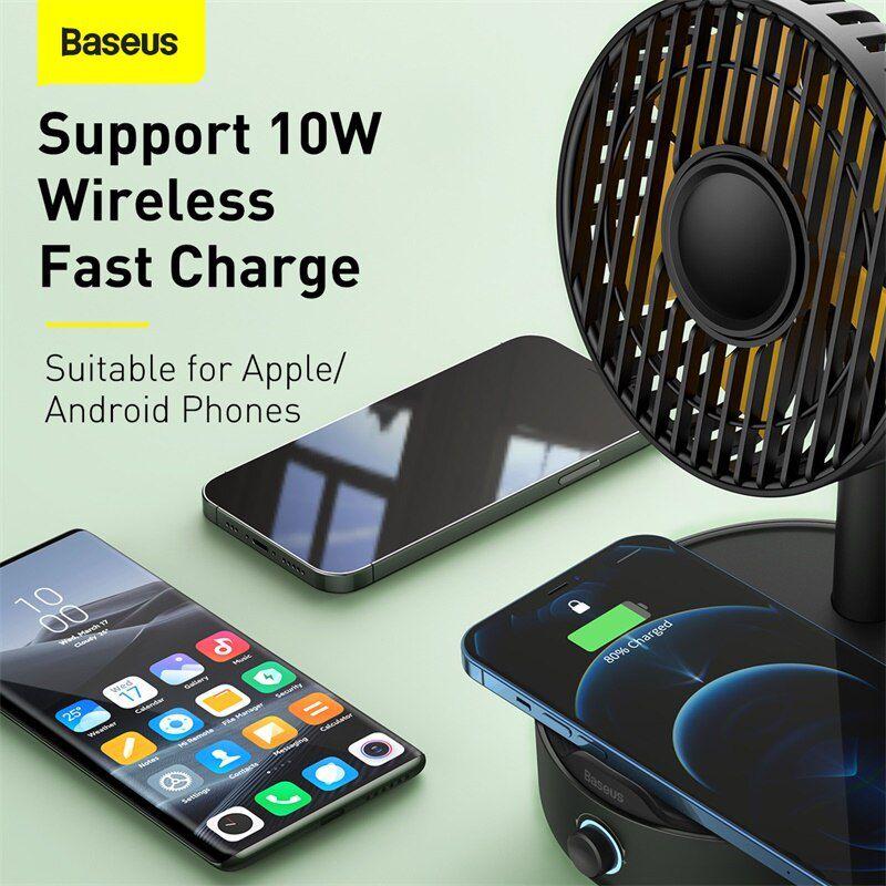Baseus Hermit Desktop Wireless Charger With Oscillating Fan (5)