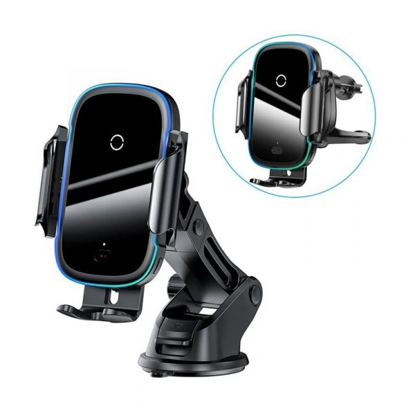 Baseus Light Electric Holder Wireless Charger 15w Car Charger With Infrared Sensor (2)