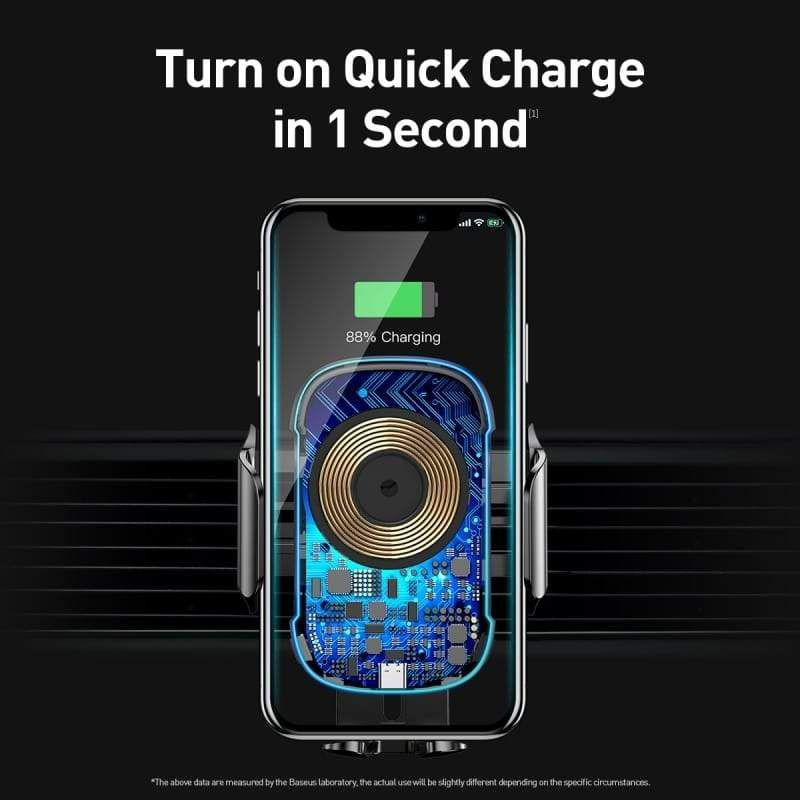 Baseus Light Electric Holder Wireless Charger 15w Car Charger With Infrared Sensor (4)