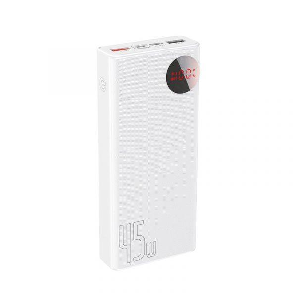 Baseus Mulight 45w Power Bank 20000mah With Digital Display White (1)