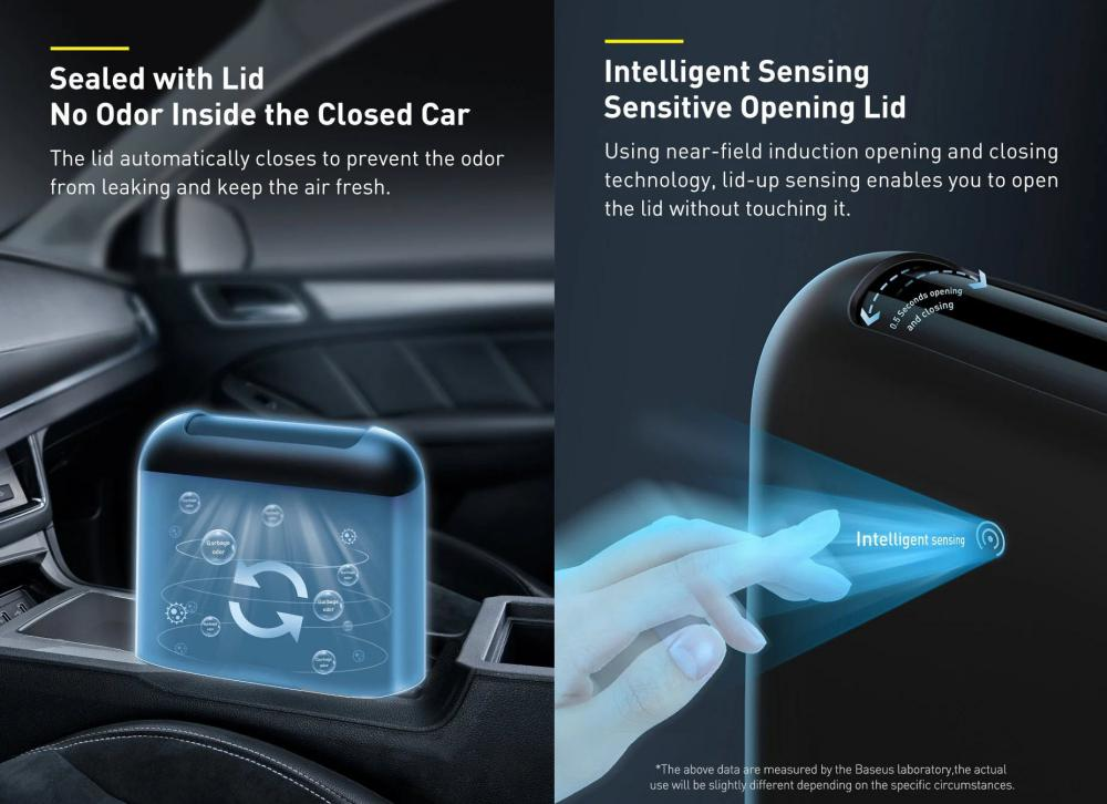 Baseus Smart Cleaner Auto Car Trash Can With Trash Bags (3)