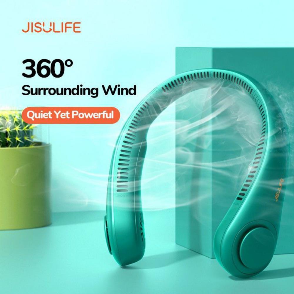 Jisulife Fa12 Neck Fan Rechargeable Fan 4000mah Silent Usb Portable Bladeless Fan (3)