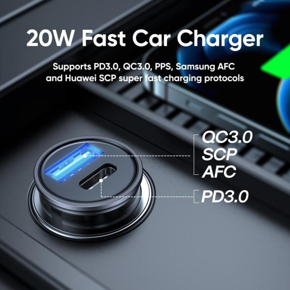 Joyroom C A43 Dual Port Pd 20w Car Charger (2)
