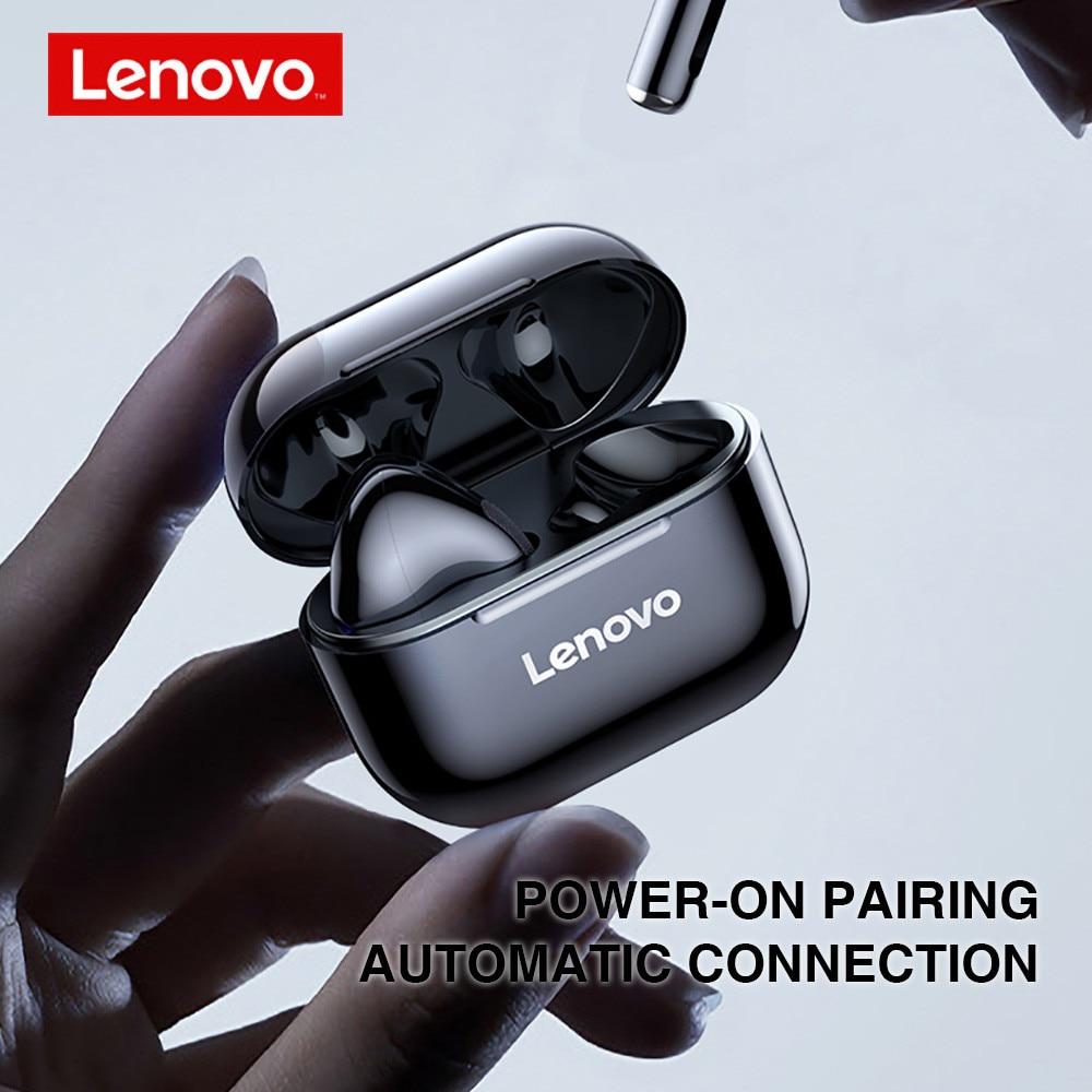 Lenovo Lp40 Tws Wireless Bluetooth Earbuds Black (1)