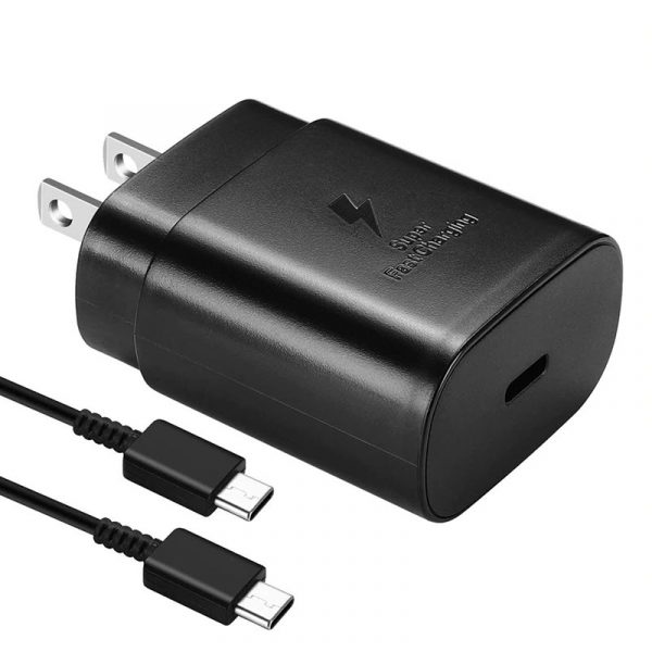 Original Samsung 25w Usb C Adapter With Type Cable 2 Pin Cn Plug