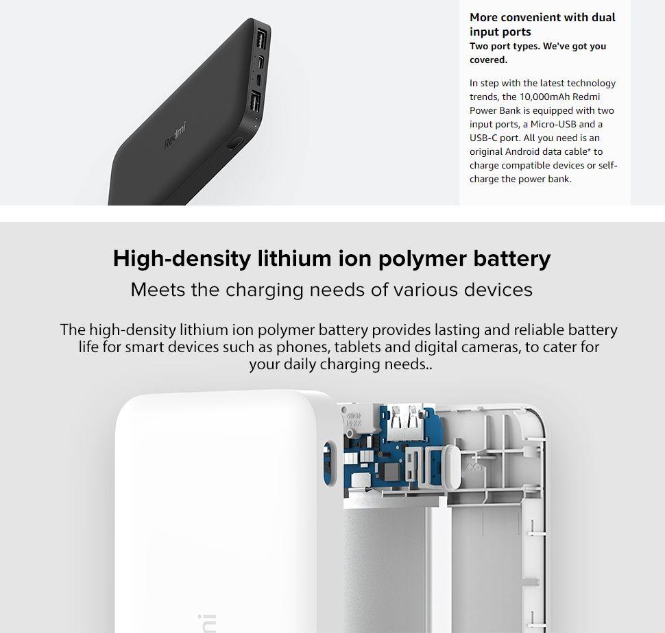 Redmi 10000mah Fast Charging Power Bank Black (2)