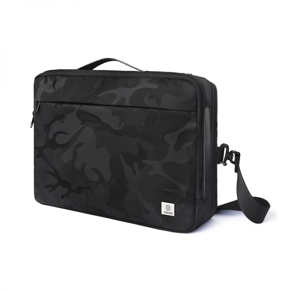 Wiwu Camouflage Cry Bag Waterproof Nylon Triple Design 16 Inch Black