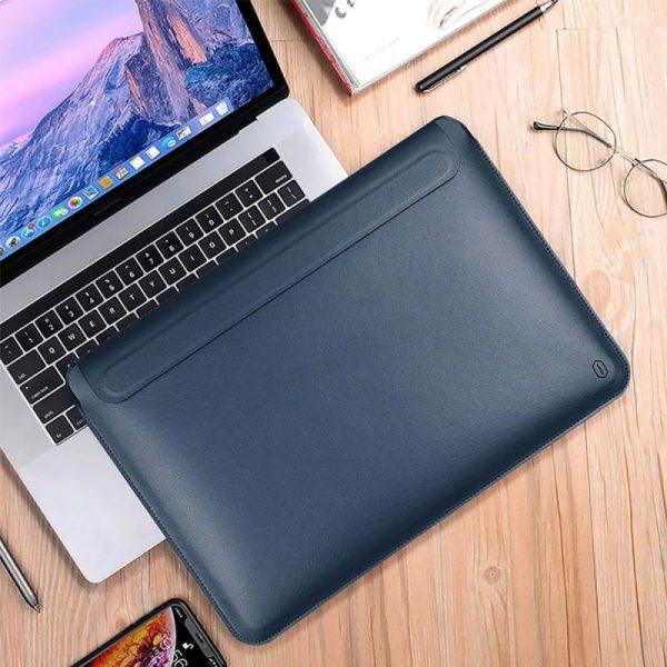 Wiwu Skin Pro Pu Leather Portable Stand Sleeve For Macbook (1)