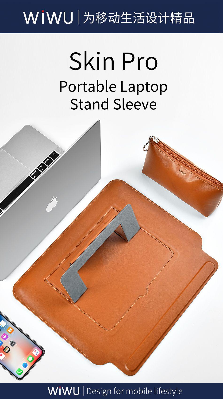 Wiwu Skin Pro Pu Leather Portable Stand Sleeve For Macbook (10)