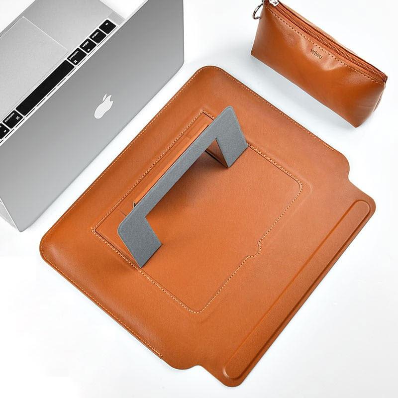Wiwu Skin Pro Pu Leather Portable Stand Sleeve For Macbook (11)