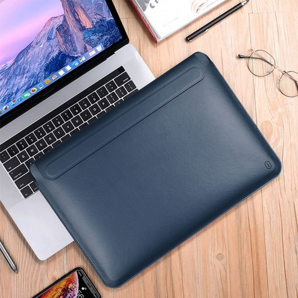 Wiwu Skin Pro Pu Leather Portable Stand Sleeve For Macbook (2)
