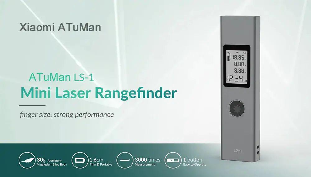 Xiaomi Atuman Duka Ls 1 Intelligent Usb Rechargeable Digital Laser Rangefinder Distance Meter ( (5)