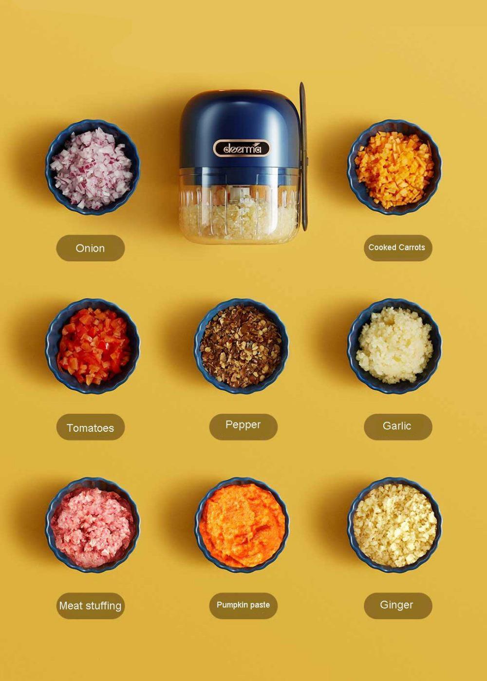Xiaomi Deerma Js200 Electric Garlic Meat Grinder (5)