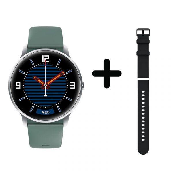 Xiaomi Imilab Kw66 Smart Watch Silver Body With Extra Black Strap