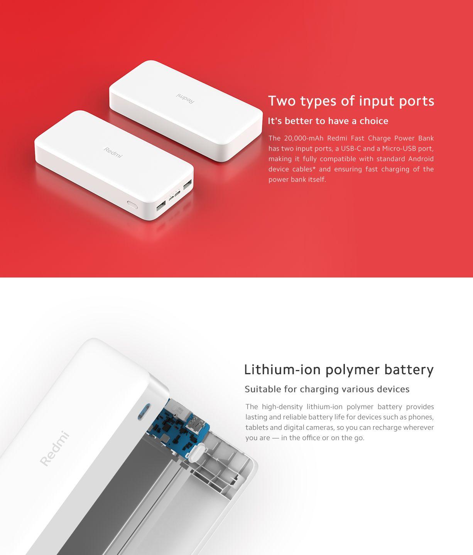 Xiaomi Redmi 20000mah 18w Fast Charging Power Bank Black (2)
