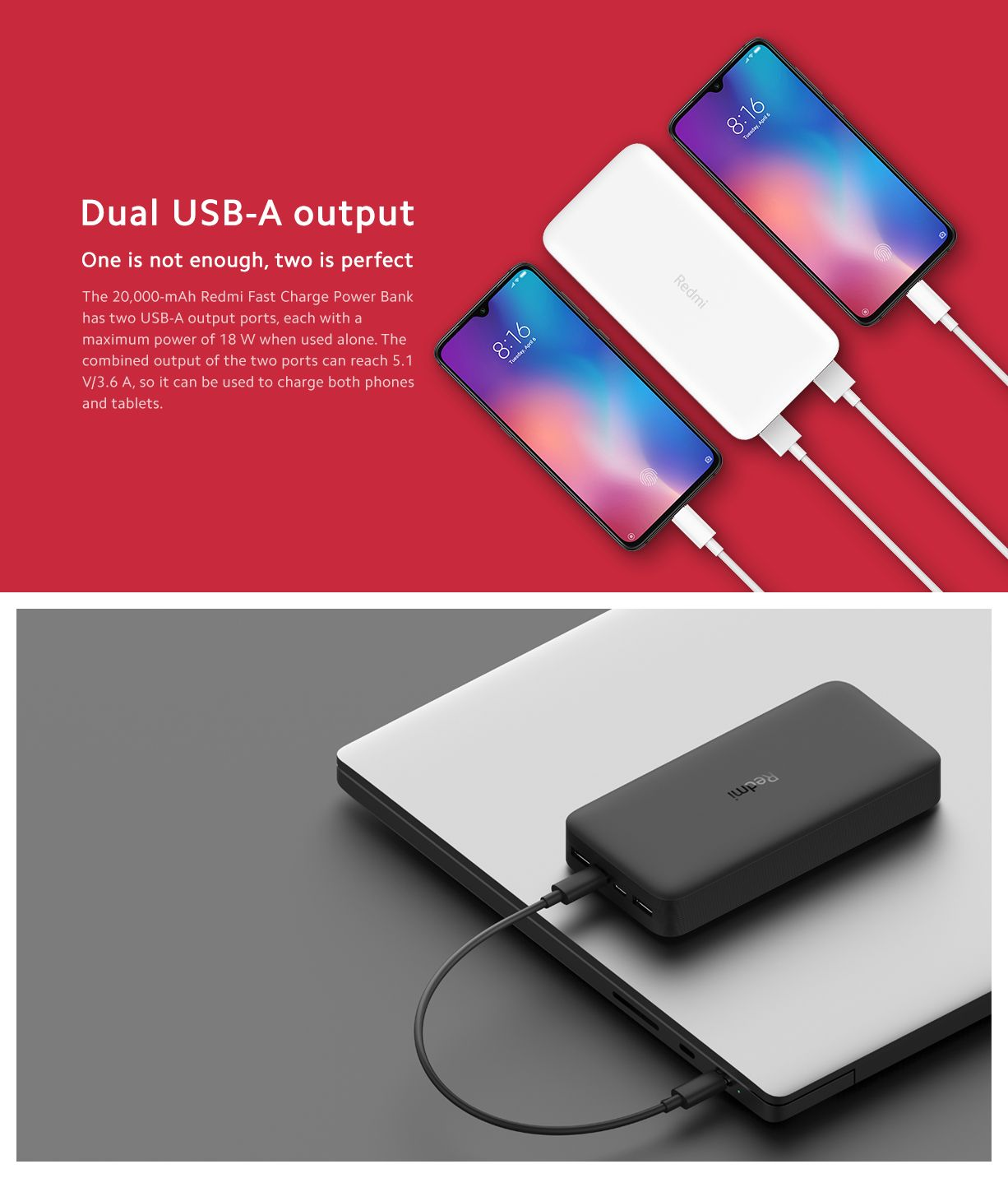Xiaomi Redmi 20000mah 18w Fast Charging Power Bank Black (3)