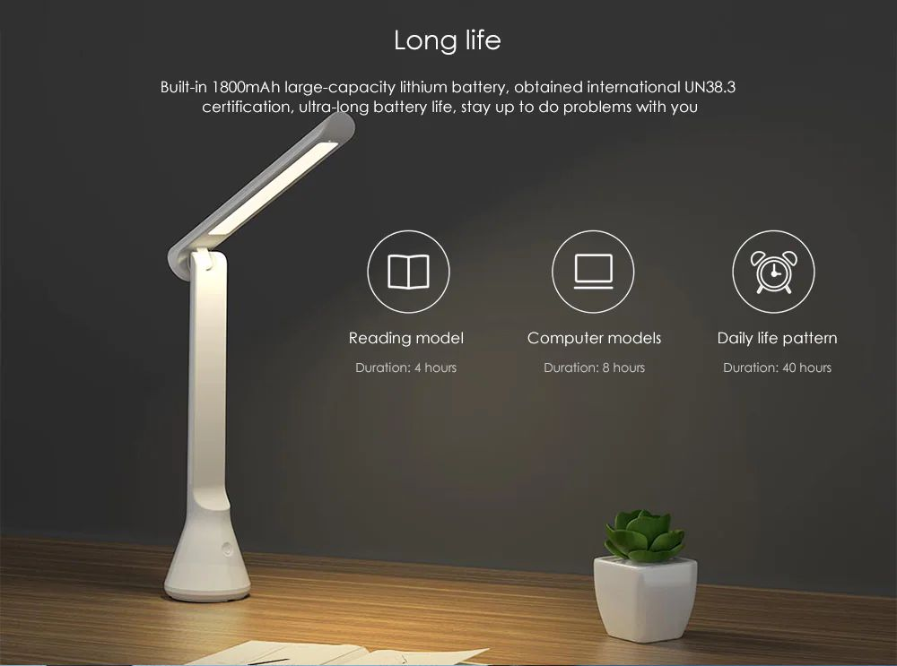 Xiaomi Yeelight Led Table Lamp Foldable Usb Chargeable Dimmable (1)