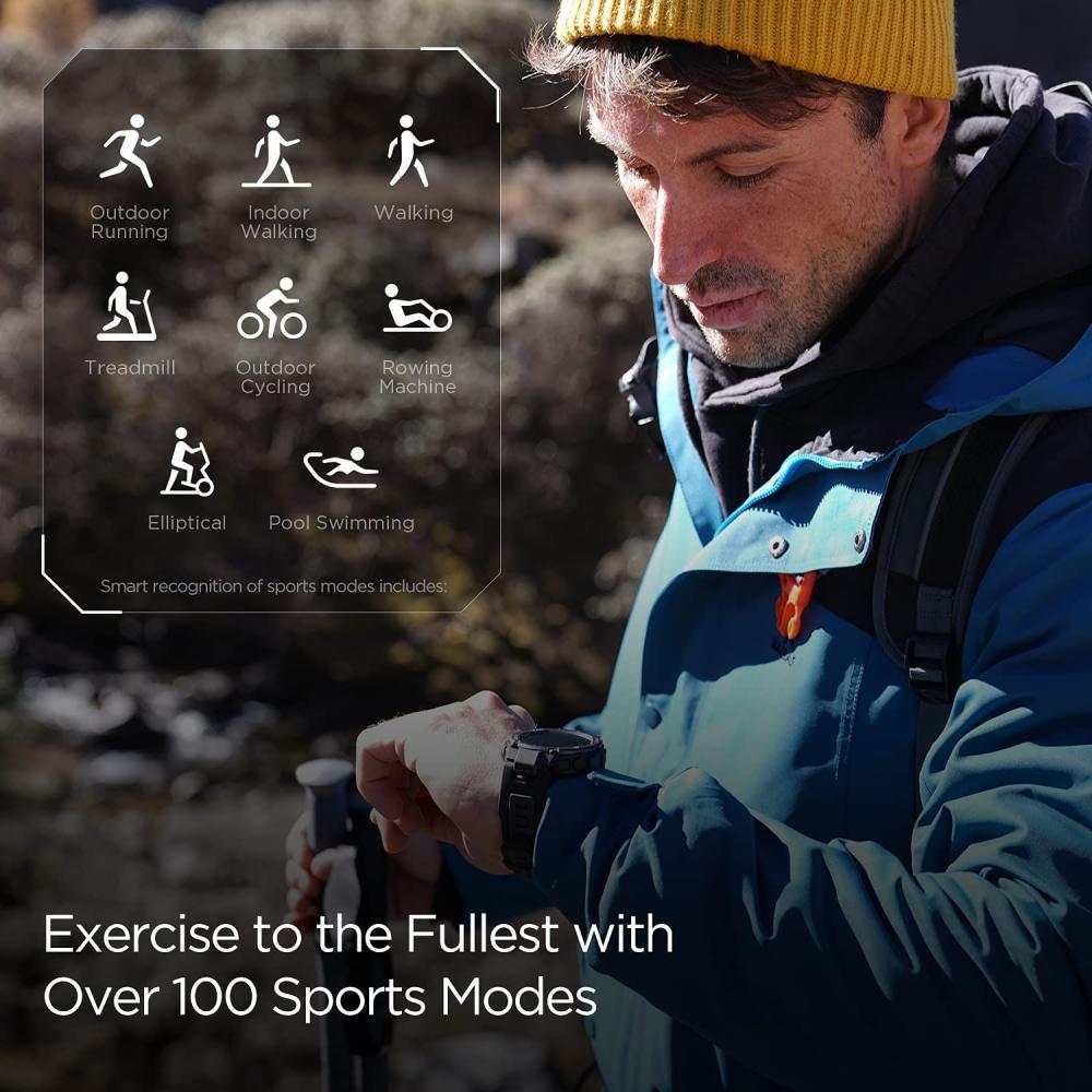 Amazfit T Rex Pro Smartwatch Fitness Watch With Spo2 (5)