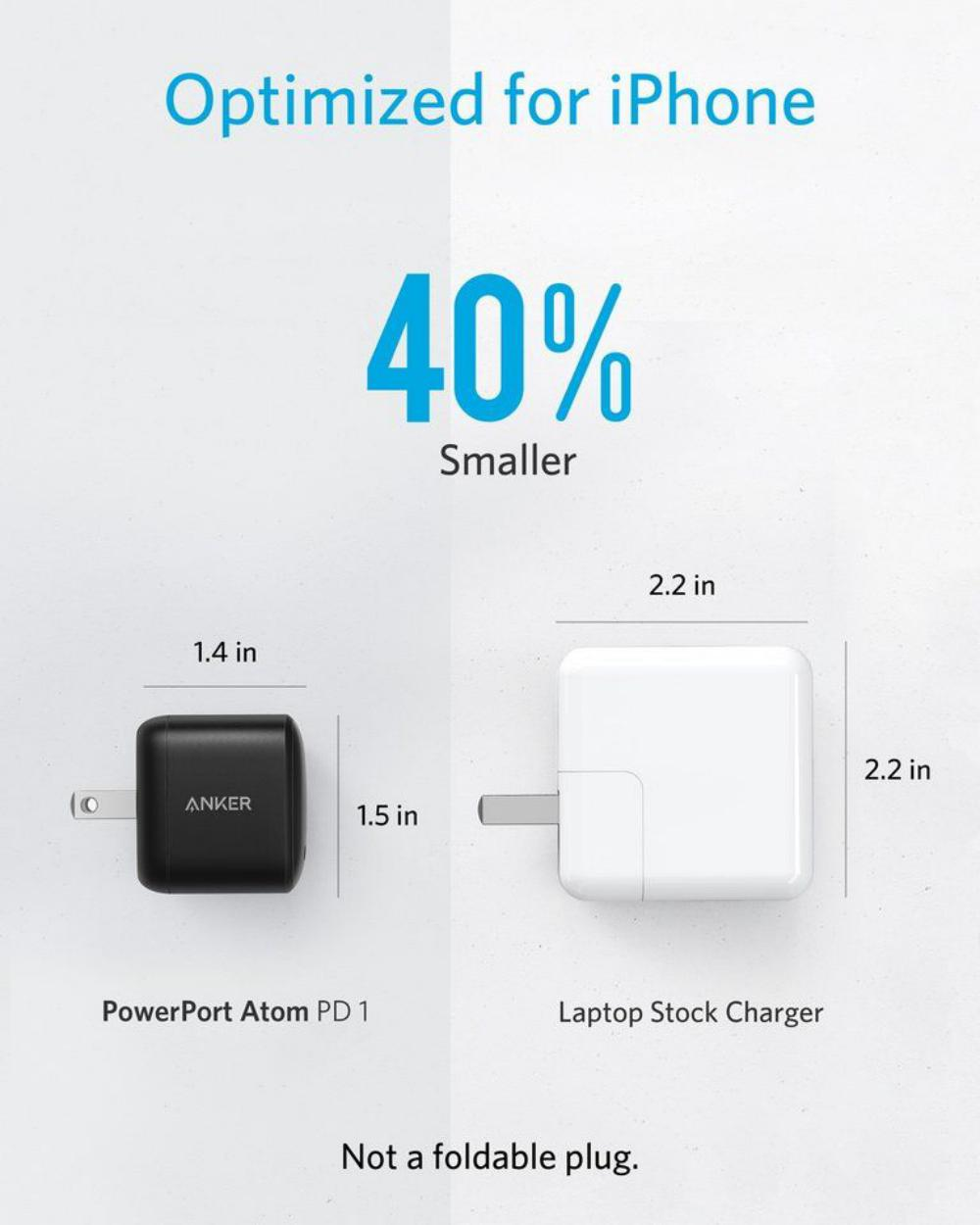 Anker 30w Compact Usb C Wall Charger With Power Delivery Powerport Atom Pd 1 (2)