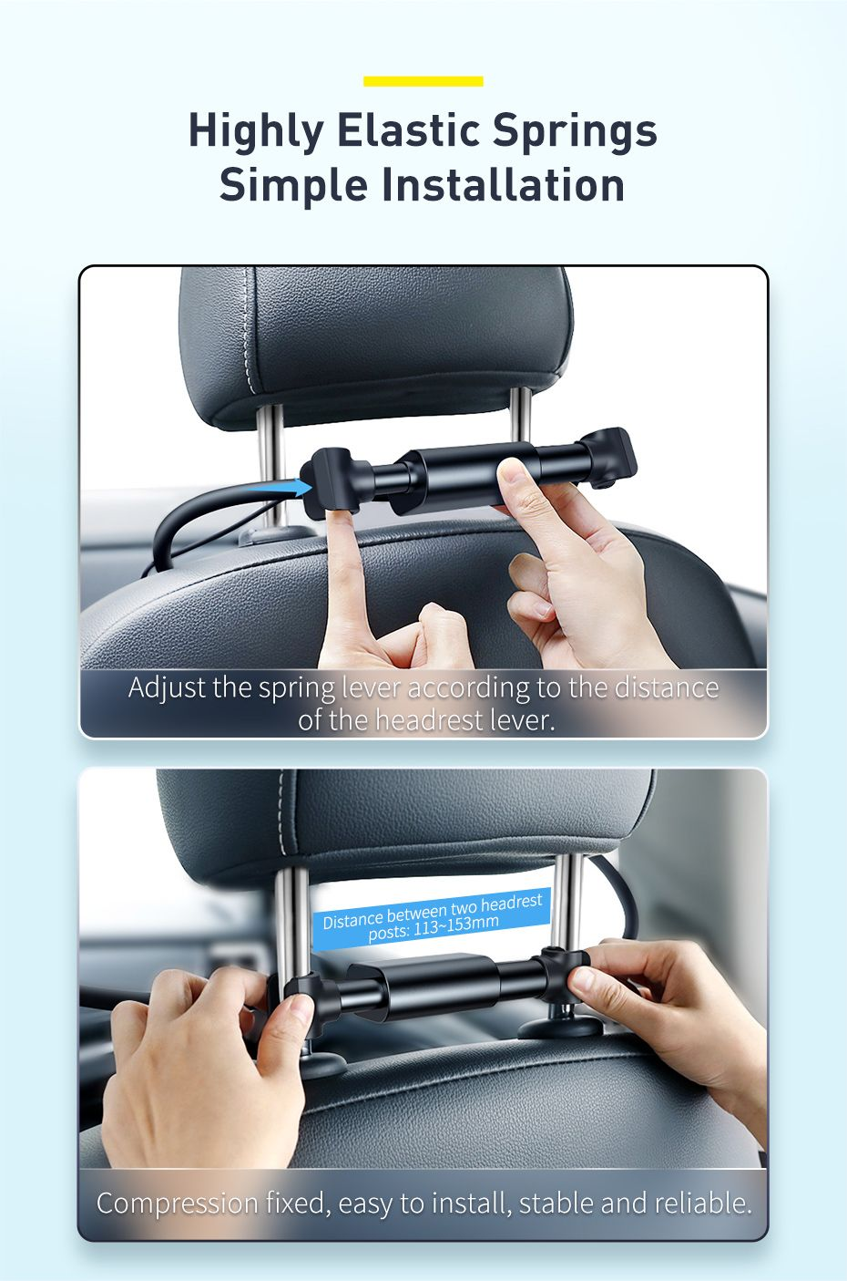Baseus Blustery Car Two Headed Fan 360 Degree Air Cooling 2 Speed Adjustable Vehicle Fa (1 (8)