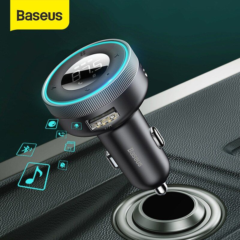 Baseus Enjoy Car Wireless Mp3 Charger Wireless 5 05v 3 4a Dual Usb Adapter With Led Dig (