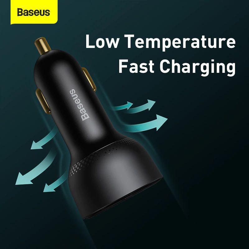 Baseus Pd 100w Usb Car Charger Quick Charge 4 0 Qc4 0 Qc3 0 Type C Usb (3)